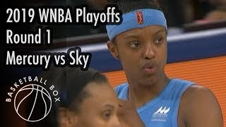 [WNBA Playoffs Round1] Phoenix Mercury vs Chicago Sky, Full Game Highlights, September 11, 2019