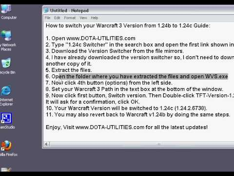 The Warcraft III Patch Version Switcher software allow you to switch betwee