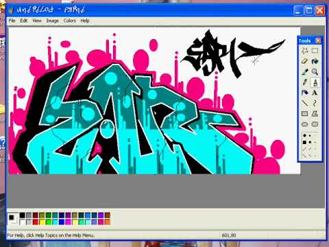 Como hacer graffiti En MSpaint? how to do Graffiti on paint?