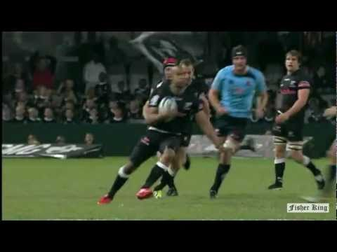 JP Pietersen try - Sharks v Waratahs - Super Rugby Rd.15 - 2011