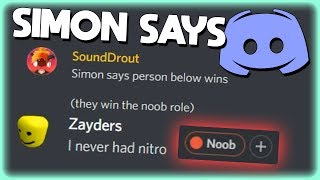 SIMON SAYS EVENT IN DISCORD!! (With a NITRO prize!)