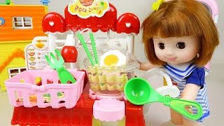 Baby doll Kitchen toys cooking noodle and food shop Pororo toy play