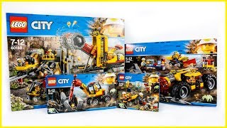 ALL LEGO City Mining Sets Compilation Speed Build Construction Toy