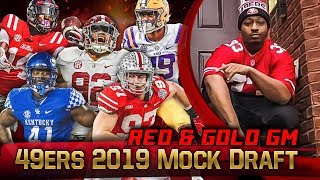 Live! 49ers Mock Draft 2019 - Ronbo Sports Red & Gold GM EP 7