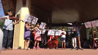 9/29/18 Suzuki students perform in the park (Chorus from Judas Maccabaeus)