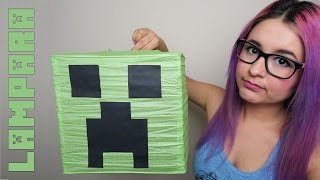 Como hacer una lampara de Creeper Minecraft - Decoración Minecraft - GadgetsGirls