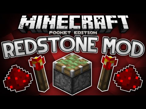 REDSTONE MOD FOR MCPE!!! - Adds Pistons, Levers, Buttons, & More! - Minecraft Pocket Edition