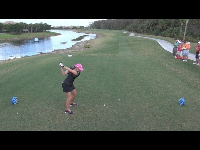 GOLF SWING 2012 - PAULA CREAMER DRIVER - ELEVATED DTL & SLOW MOTION - HQ 1080p HD