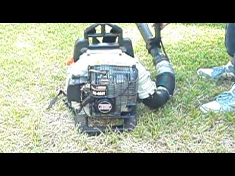 Echo Backpack Blower PB- 403T Cold Start and Run- Great Blower