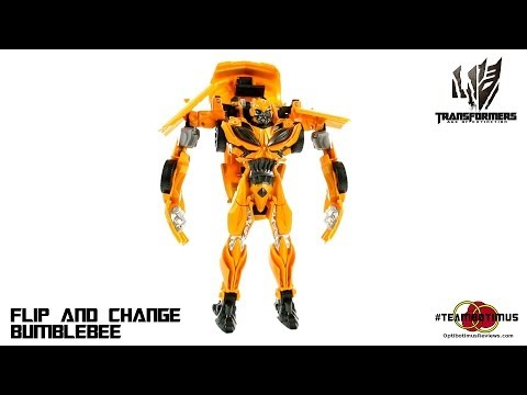 Video Review of the Transformers Age of Extinction: Flip and Change Bumblebee