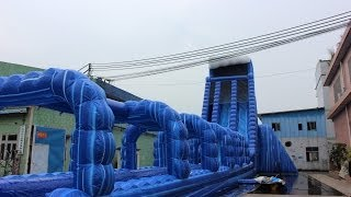 The biggest inflatable double lane water slide--QIQI Toys