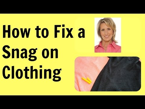 how to fix a sweater thats been caught