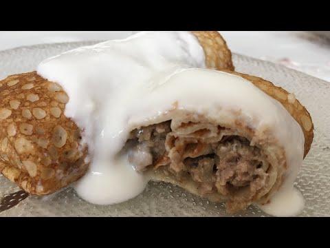 Go'shtli quymoq/Блинчики с мясом