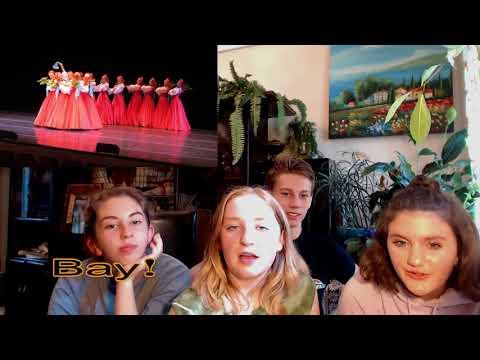 Американцы смотрят лезгинку и русские народные танцы.