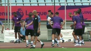 Manchester City train ahead of Premier League Asia Trophy final | Sports Tak