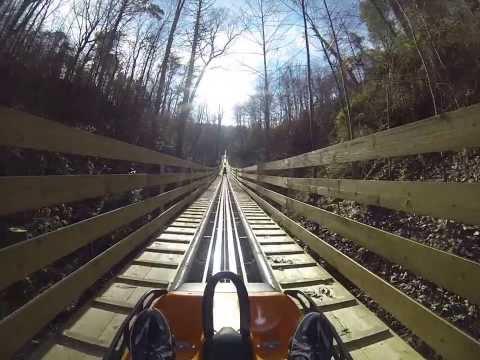 Smoky Mountain Alpine Coaster ROLLER COASTER POV Pigeon Forge Tennessee