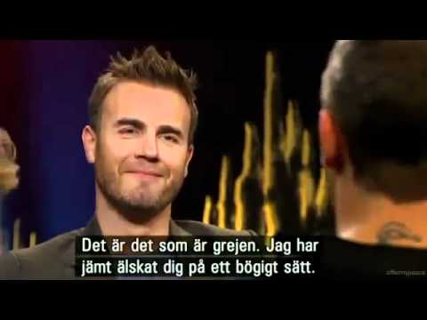 Robbie Williams Gary Barlow funny sketch gem - Interview on Skavlan 25 11 2010