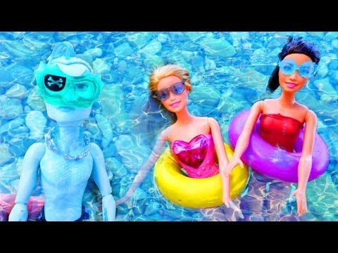 #MonsterHigh kurtarma ekibi #Barbie kurtarıyor! Denizde #eğlencelioyunlar oynuyoruz