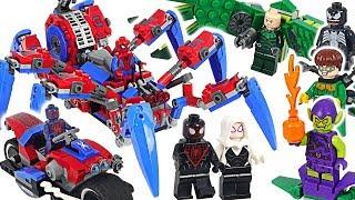 LEGO Marvel Spider-Man Crawler, 2099, Ghost, Miles Morales VS Venom, Carnage! #DuDuPopTOY