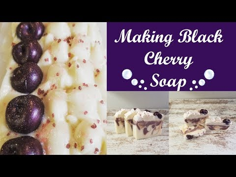 Making Black Cherry Cold Process Soap!!