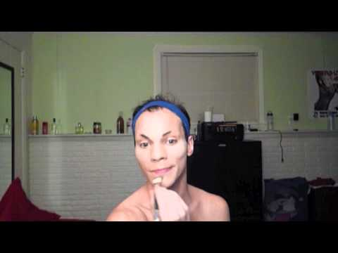 JizzaBella's Drag Queen Makeup Tutorial Pt. 1 (Foundation, Eyebrows, and Partial Contouring)