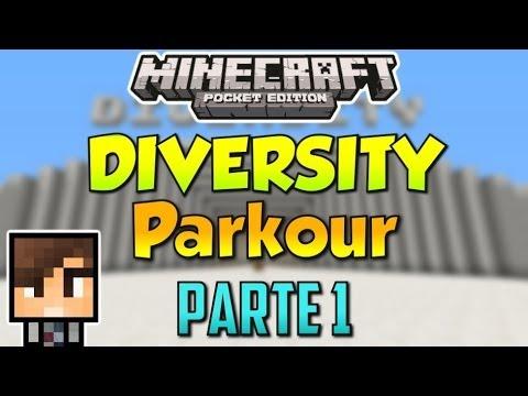 Minecraft PE: DIVERSITY PARKOUR Parte 1
