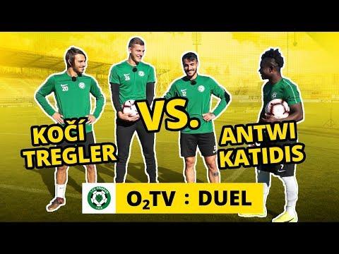 O2 TV Duel: Hráči Příbrami soutěží ve speciálním slalomu