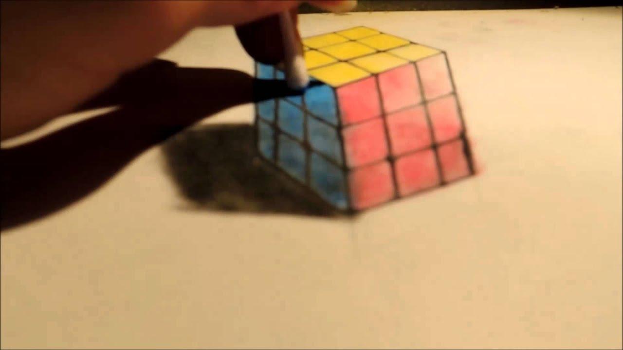 trompe oeil  rubik u0026 39 s cube