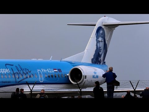 Farewell KLM Fokker 70 inc. FLYBY and the 4 last Fokker departures.