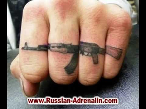 Ak - 47 tattoo. Татуировки автомата Калашникова. - YouTube