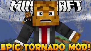 Minecraft EPIC Tornado Mod - More Weather and Hurricanes (Tropical Storm) - Mod Showcase