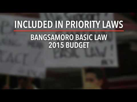 FOI, Bangsamoro among Aquino's priority bills