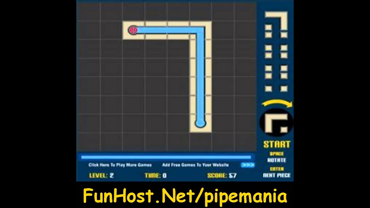 Pipe Mania Game Pipe Mania Online Video Game