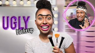 I Did My Make Up Horribly To See How My BEST FRIEND Would React!! *MUST WATCH*