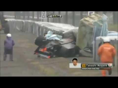 SuperFormula Suzuka 2014 Huge crash Kogure