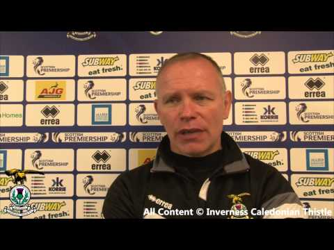 CaleyJagsTV : John Hughes Match Reaction v Motherwell 22/11/14