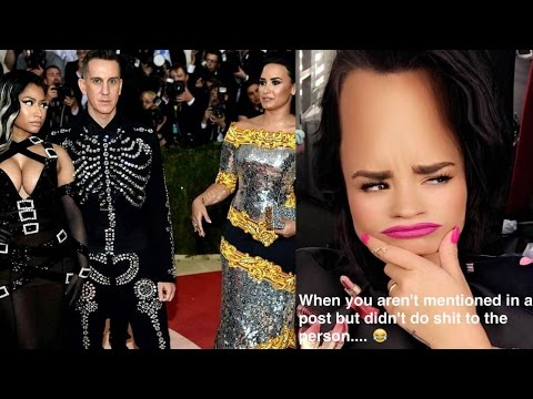 Demi Lovato & Nicki Minaj Shade Each Other After Awkward Met Gala Run In