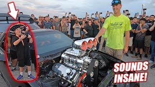 INSTANT Car Guy For Life...10.3L Supercharged Big Block in Person! + Neighbor Wall Tap Damage!