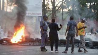 SOUTH AFRICA NEWS TODAY  |   COPS DEPLOYED AS GROUP PROTESTS OUTSIDE SHEPHERD BUSHIRI'S CHURCH