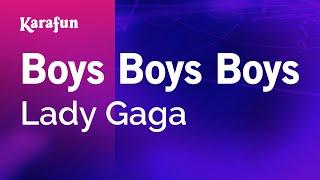 Karaoke Boys Boys Boys - Lady Gaga *