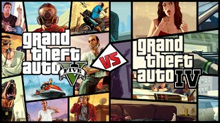 [GTA 5 vs GTA 4] Grand Theft Auto V против Grand Theft Auto IV