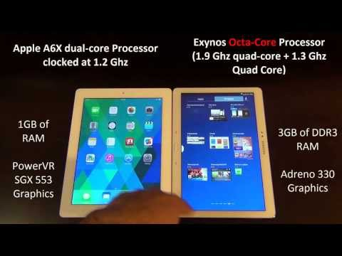 Samsung Galaxy Note 10.1 (2014 Edition) vs iPad 4 Full Comparison