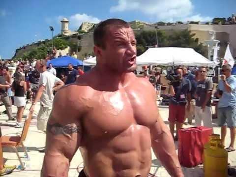 Mariusz Pudzianowski - Strong Man World Champion Competition Malta 2009