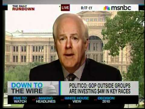 Sen. Cornyn on MSNBC's The Daily Rundown 10-21