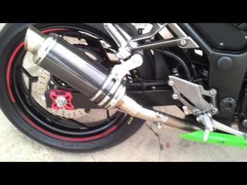 เสียงท่อ PR2 Carbon ใส่ Ninja300