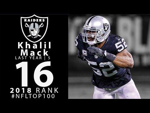 #16: Khalil Mack (DE, Raiders) | Top 100 Players of 2018 | NFL