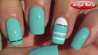 ▶ Bornprettystore / Striping Tape Nail Art / Лента Для Ногтей