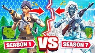 SEASON 1 vs SEASON 7 *NEW* Game Mode in Fortnite Battle Royale