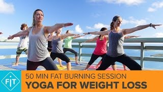Yoga For Weight Loss – 50 Minute Fat Burning Morning Yoga Class