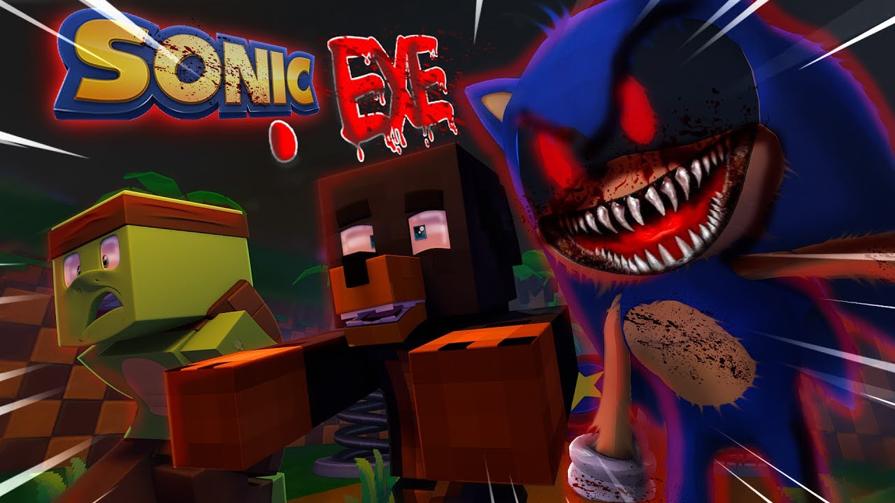 Minecraft SONIC .EXE - EVIL SONIC .EXE COMES TO LIFE FOR THE FIRST TIME w/TINY TURTLE!!!!